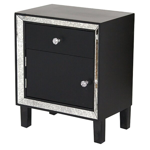 Venita End Table With Storage by House of Hampton