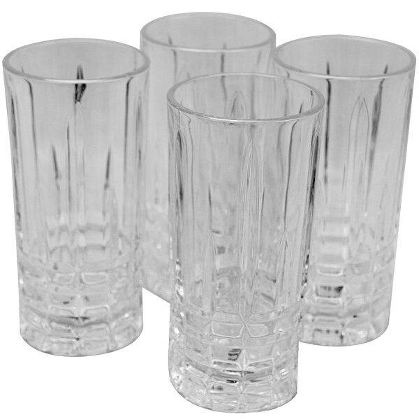 Ivan 11 oz. Glass Highball Glass (Set of 4) by Astoria Grand