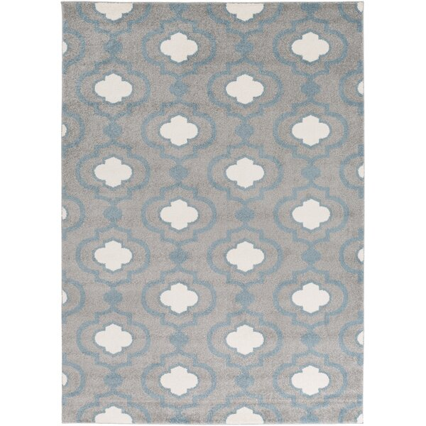 Gerhardt Charcoal Geometric Area Rug by Three Posts