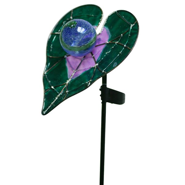 Galilea Water Lily Starlight Garden Stake by August Grove