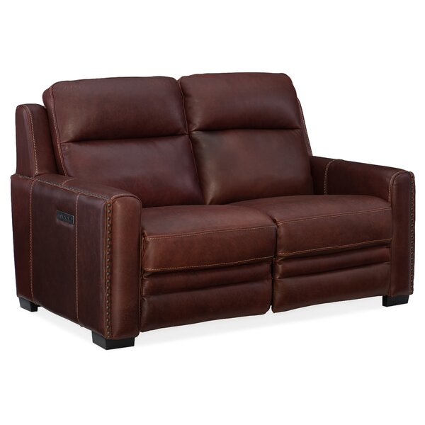 Best Discount Quality Aviator Leather Reclining Loveseat by Hooker Furniture by Hooker Furniture