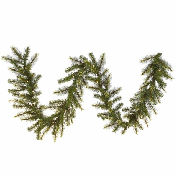 Jack Pine Artificial Christmas Garland with Lights by Vickerman