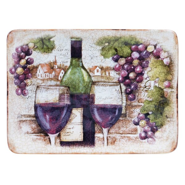Sanctuary Wine Rectangular Platter by Certified International