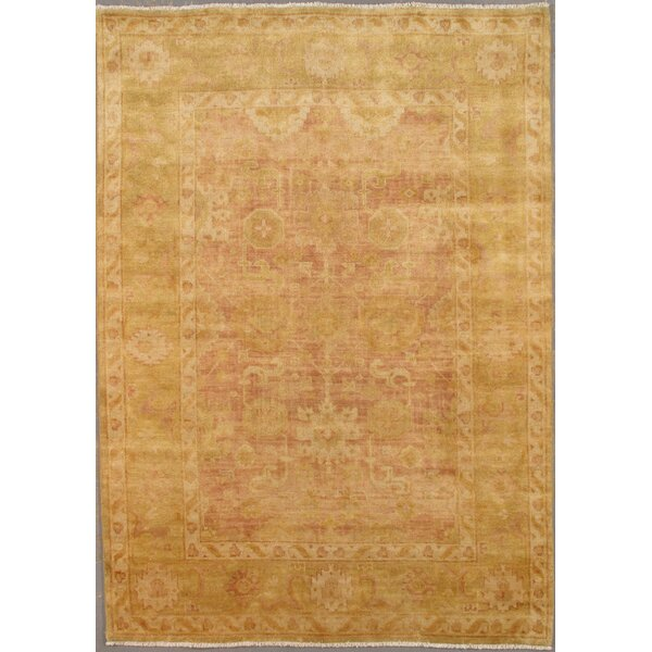 Oushak Decorative Turkish Tribal Design Hand-Knotted Wool Area Rug by Pasargad