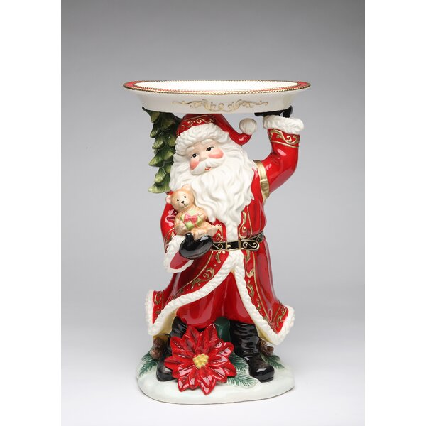 Santa 15'' Fig with Plate by Cosmos Gifts