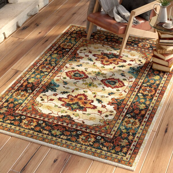 Canyonwood Brown/Red Area Rug by Loon Peak