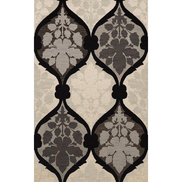 Bella Machine Woven Wool Gray/Black Area Rug by Dalyn Rug Co.