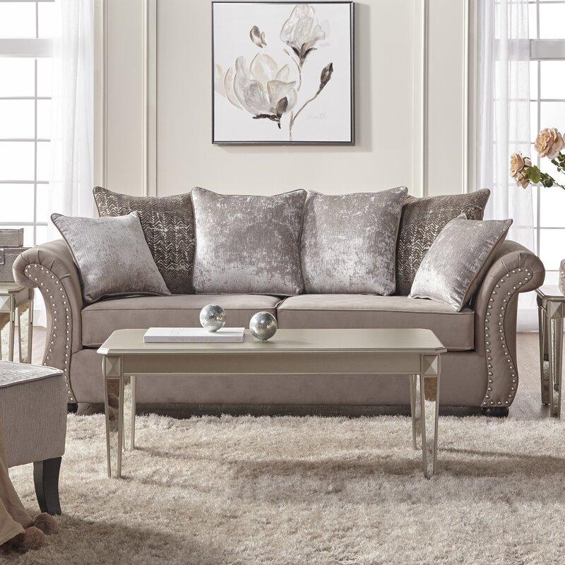 Alcott Hill Agnes Upholstery Sofa & Reviews   Wayfair