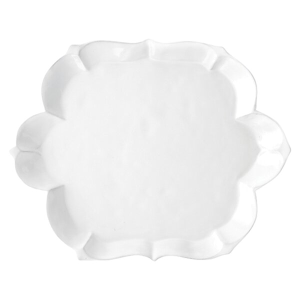 Bella Bianca Scalloped Platter by Arte Italica