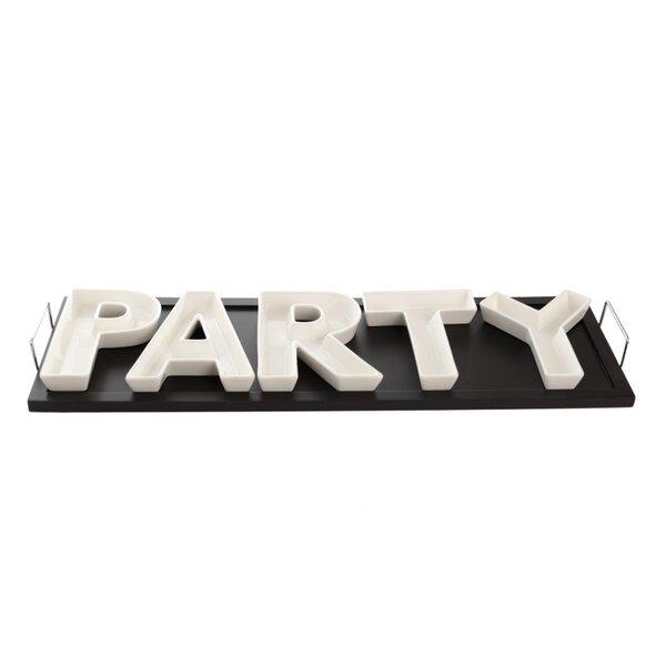 Vanilla Bar 6 Piece Party Divided Serving Dish Set by Red Vanilla