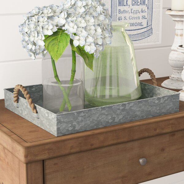 Rectangle Galvanized Tray by Laurel Foundry Modern Farmhouse