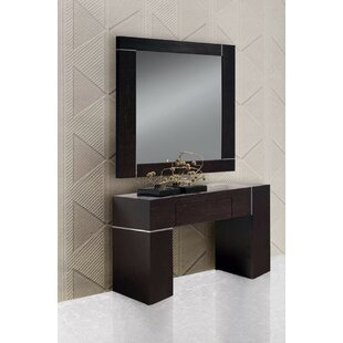 Clower Wall Console Table and Mirror Set  sc 1 st  Wayfair & Console Table Mirror Set | Wayfair