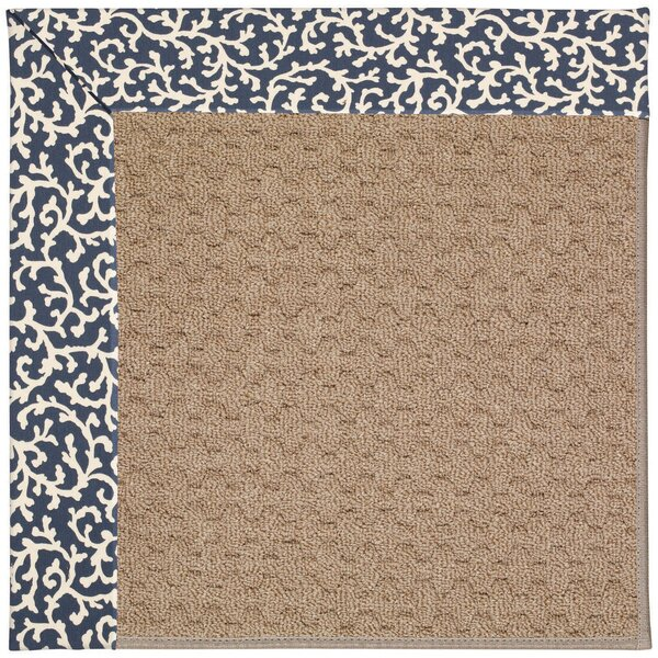 Lisle Machine Tufted Midnight/Brown Indoor/Outdoor Area Rug by Longshore Tides