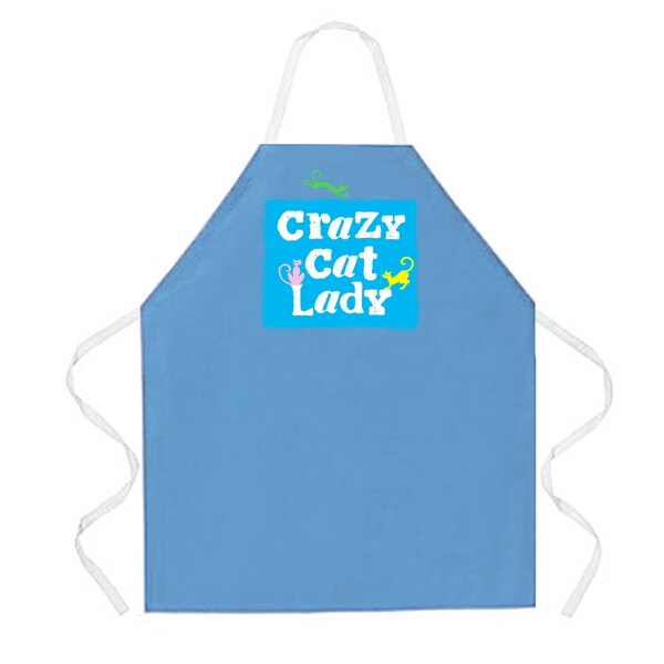 Crazy Cat Lady Apron in Columbia by Attitude Aprons by L.A. Imprints