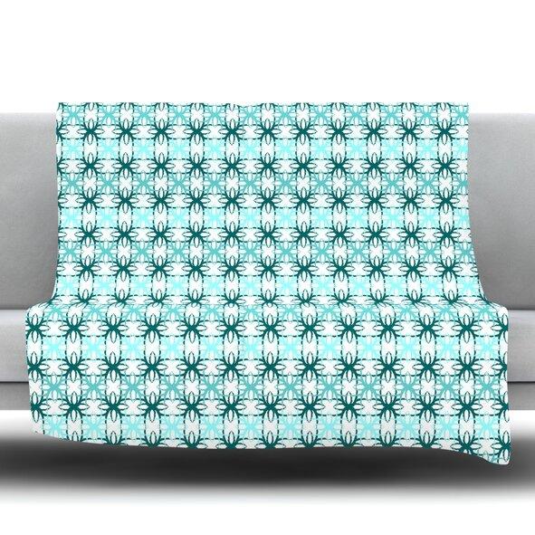Motifs Fleece Throw Blanket by KESS InHouse