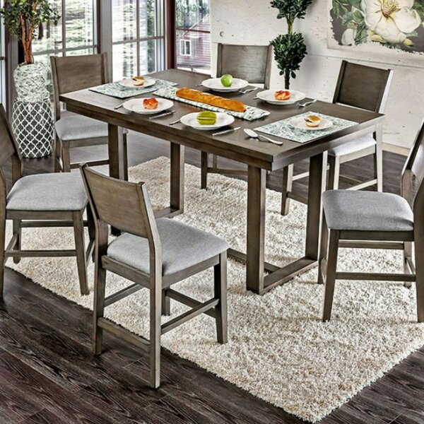 Chantay Rectangular Wooden Counter Height Dining Table by Gracie Oaks