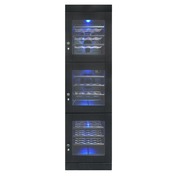 48 Bottle Triple Zone Freestanding Wine Refrigerator By Vinotemp