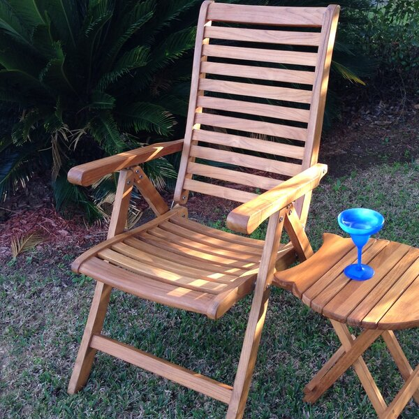 Francisco Folding Teak Patio Dining Chair by Darby Home Co