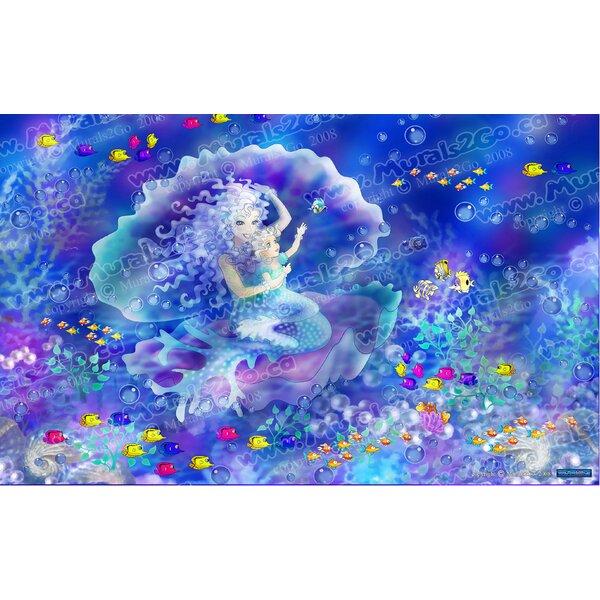 Mermaid Wall Mural by Wallhogs