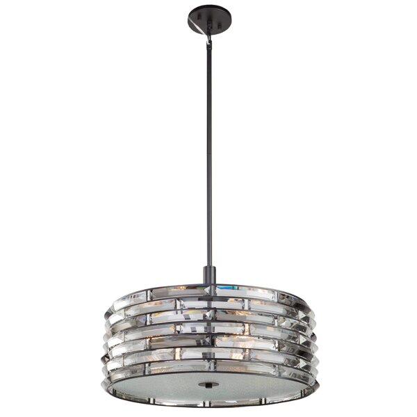 Freitas 5-Light Unique / Statement Drum Chandelier by House of Hampton House of Hampton