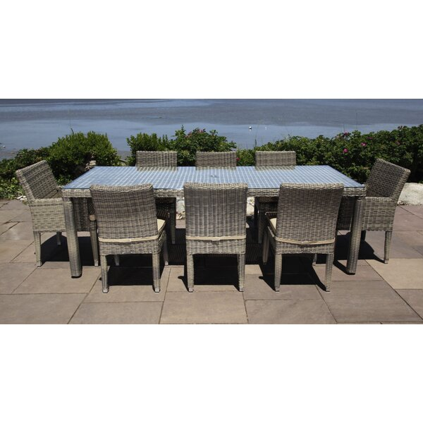 Corsica 9 Piece Dining Set with Cushions by Madbury Road