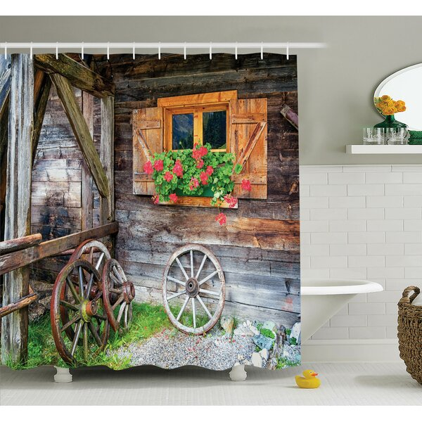 Farm House Countryside Shower Curtain Set by Ambesonne