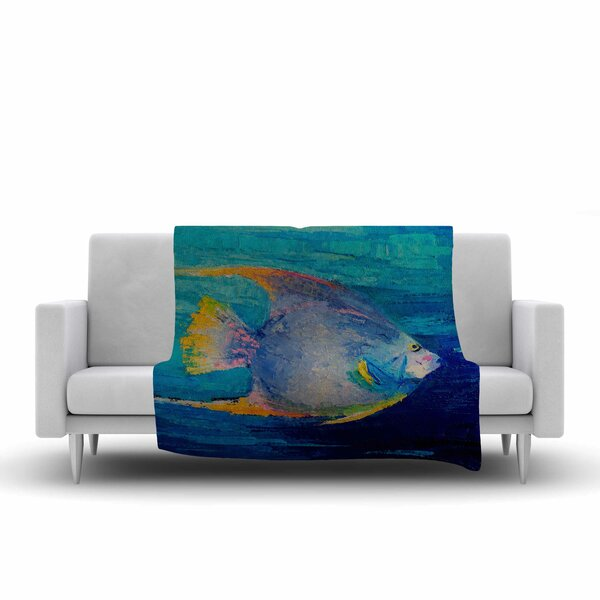 Carol Schiff Tropical Fish II Painting Fleece Throw by East Urban Home