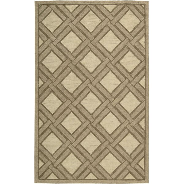 Atlantic Hand-Woven Ivory/Beige Area Rug by Bay Isle Home