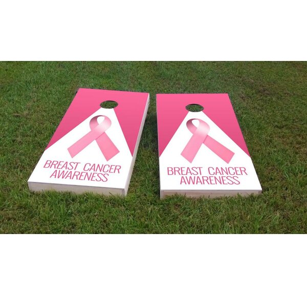 Breast Cancer Awareness Light Weight Cornhole Game Set by Custom Cornhole Boards