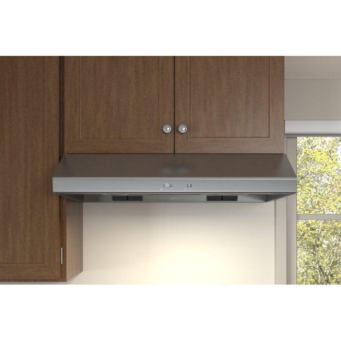 Zephyr 36 600 cfm ducted under cabinet range hood for Zephyr vent hood reviews