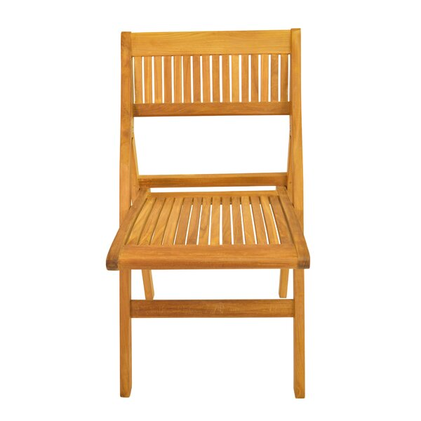 Windsor Folding Teak Patio Dining Chair (Set of 2) by Anderson Teak