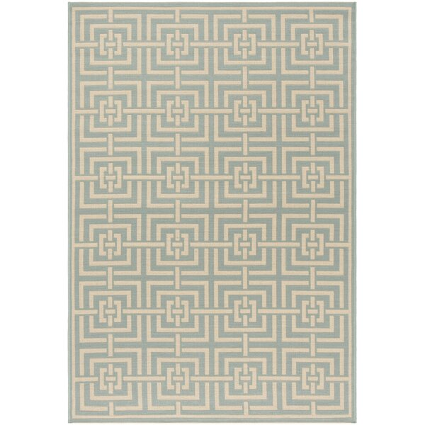 Shea Aqua/Cream Area Rug by Brayden Studio