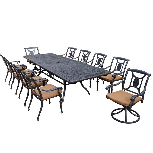 Zonia 11 Piece Dining Set with Cushions by Charlton Home