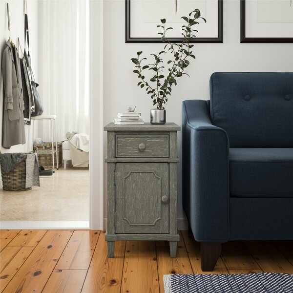 Glenrock End Table With Storage By Ophelia & Co.