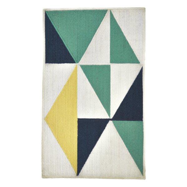 Carrington Yellow/Green/Black Indoor/Outdoor Area Rug by Wrought Studio
