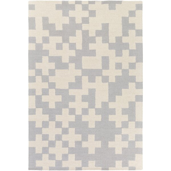 Youngman Hand-Crafted Gray/Ivory Area Rug by George Oliver