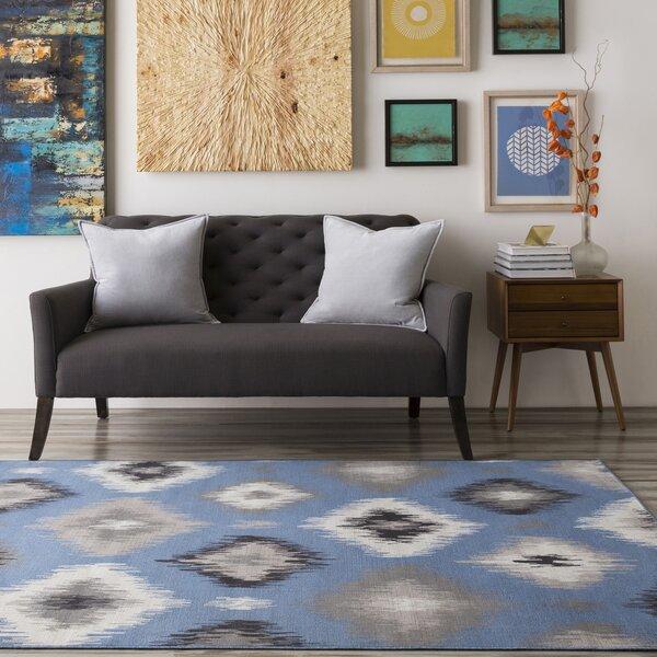 Clementina Gray/Blue Area Rug by Zipcode Design