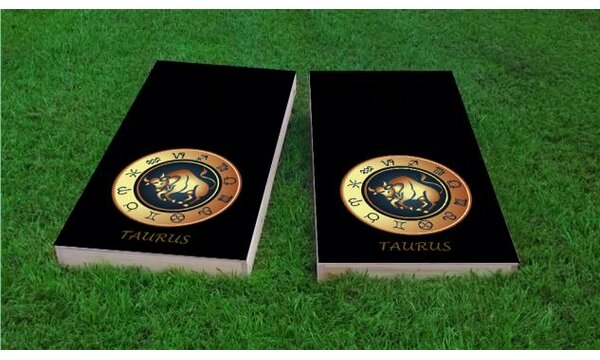 Zodiac Taurus Themed Cornhole Game (Set of 2) by Custom Cornhole Boards