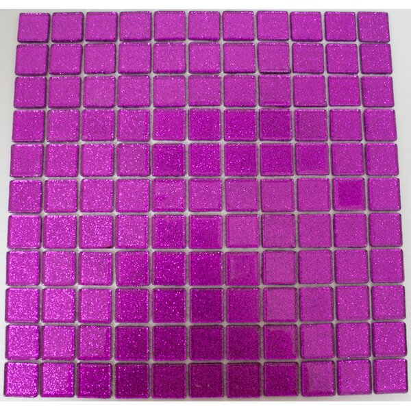 1 x 1 Glass Mosaic Tile in Purple Violet by Susan Jablon
