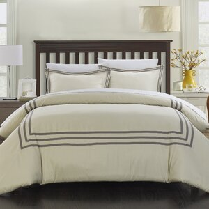 Buy Paige Modern Hotel 7 Piece Reversible Duvet Cover Set!