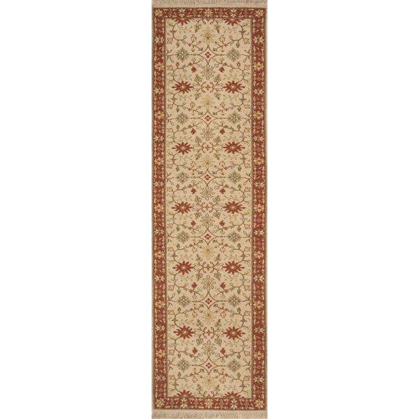 Soumak Handmade Flatweave Wool Beige/Red Rug