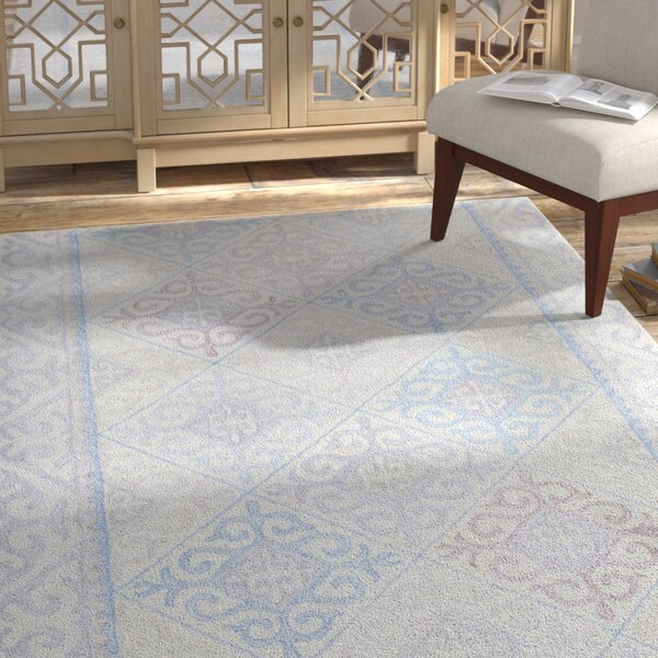 Knowland Hand-Tufted Wool Denim/Gray Area Rug by Bungalow Rose
