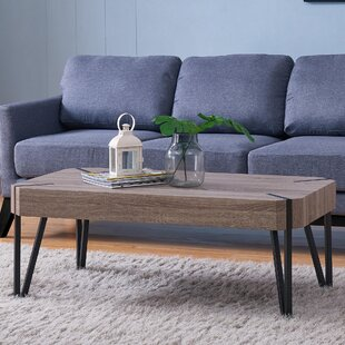 Harrell Oak Coffee Table Union Rustic