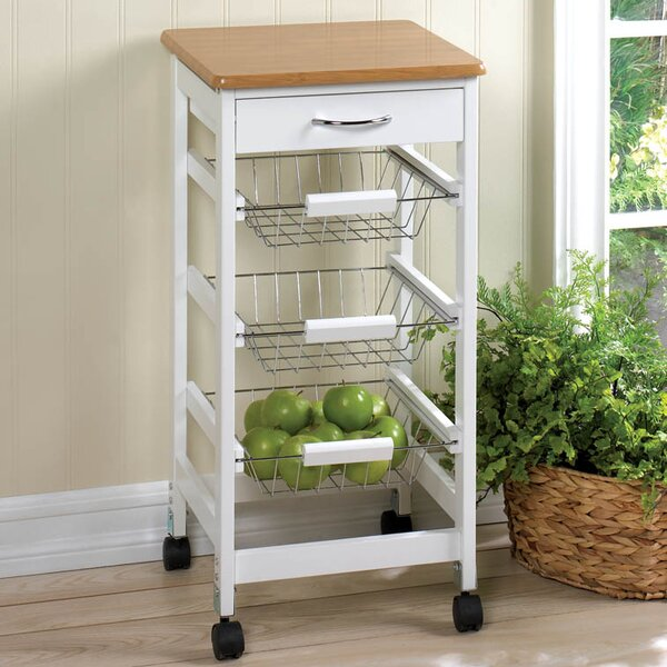 Kitchen Cart with Wood Top by Zingz & Thingz