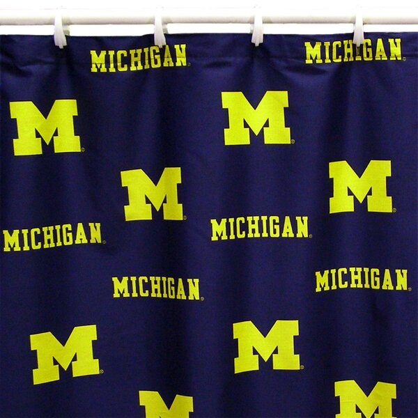 NCAA Michigan Cotton Printed Shower Curtain by College Covers