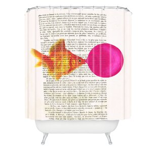 Goldfish With Bubblegum Single Shower Curtain