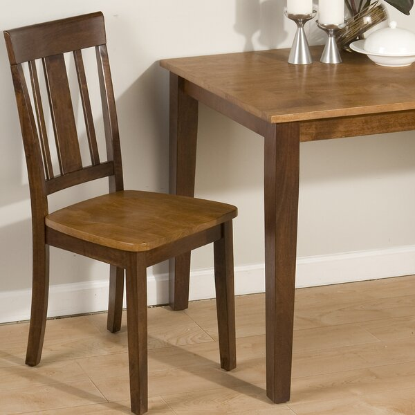Panama Triple Upright Solid Wood Dining Chair (Set of 2) by Loon Peak