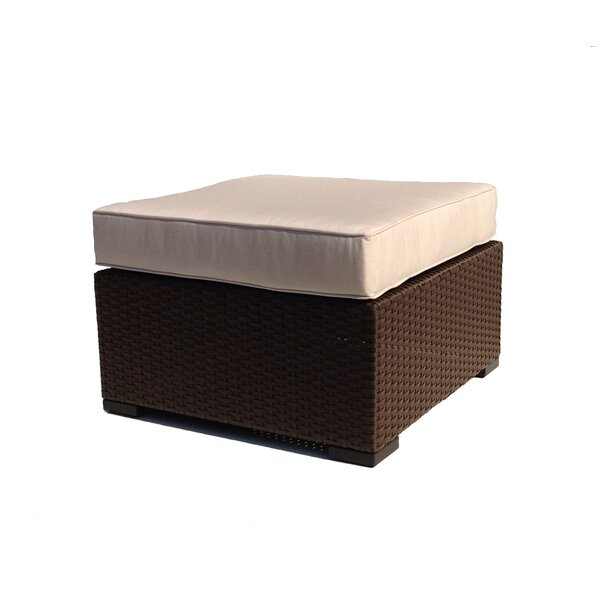 Vandewa Ottoman with Cushion by Rosecliff Heights