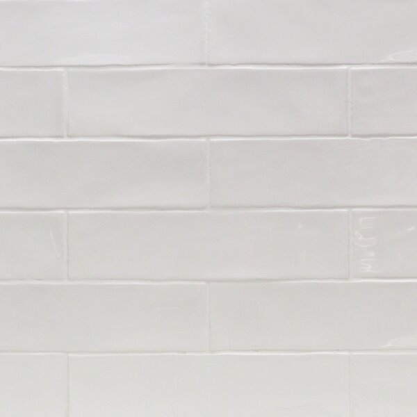 Catalina 3 x 12 Porcelain Subway Tile in White by Splashback Tile