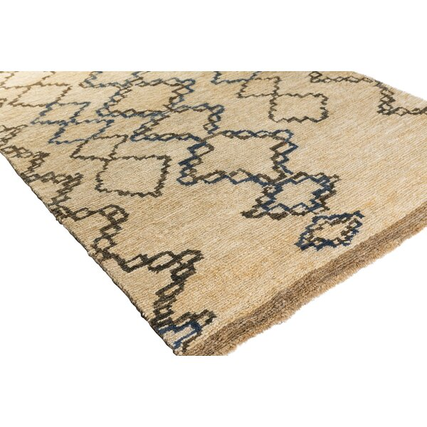 Amsbry Hand-Knotted Brown Area Rug by Bungalow Rose